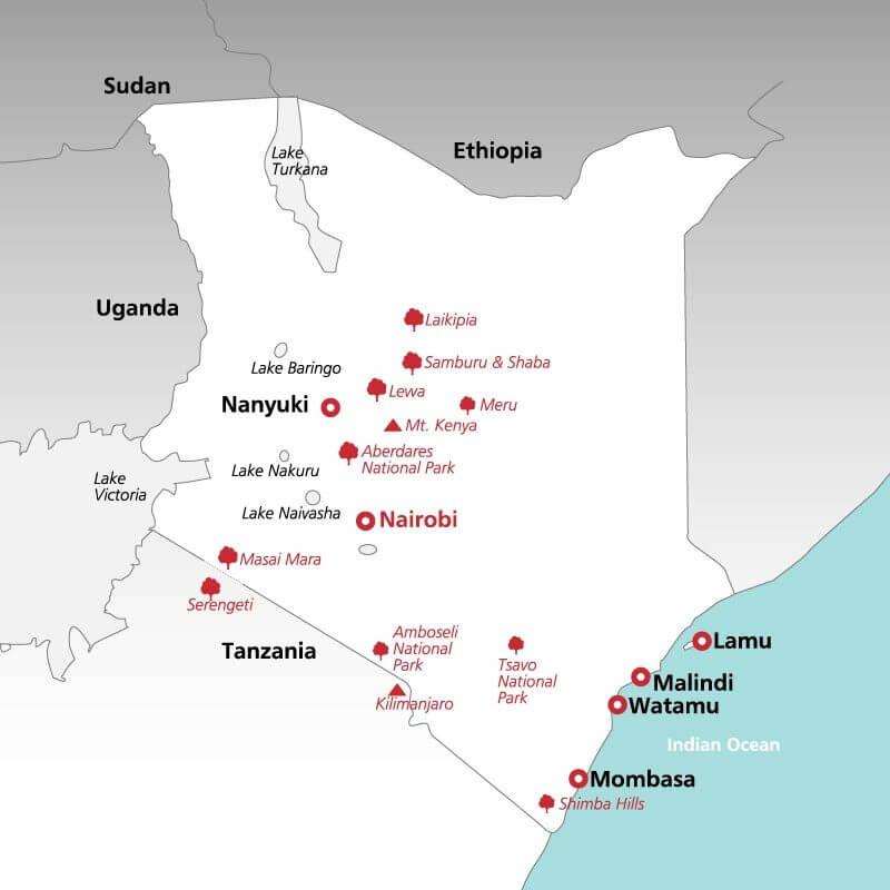 Kenya--map