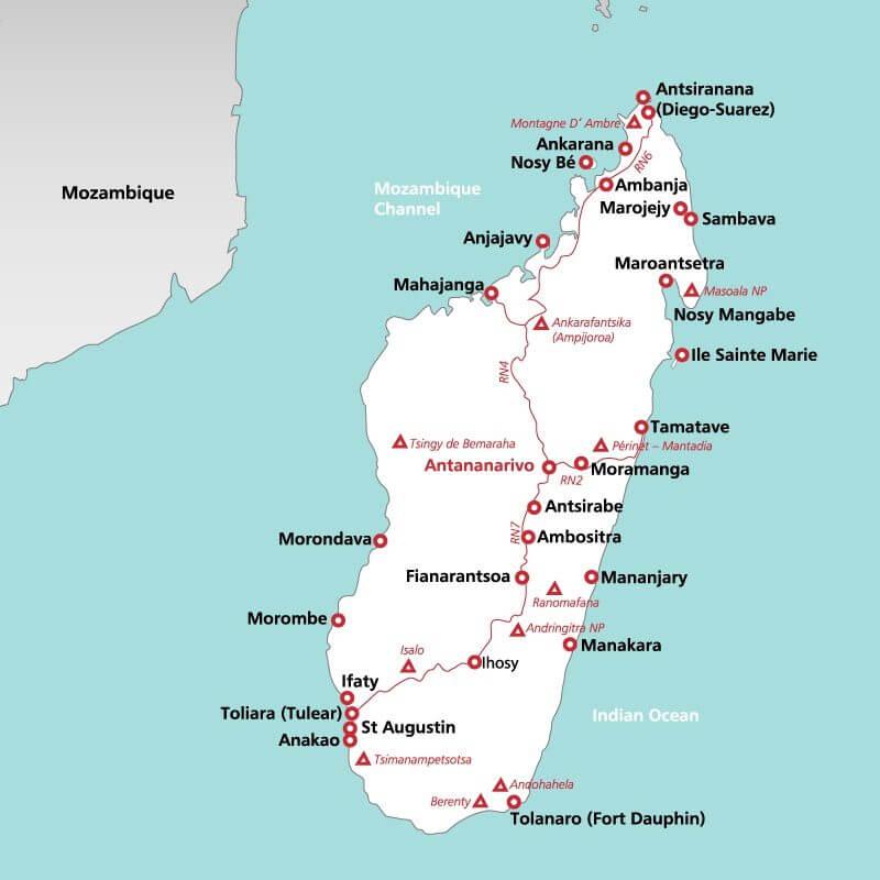 Madagascar--map