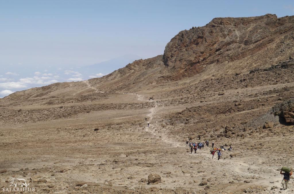 Karranga Camp (3,950m/13,000ft) to Barafu Camp (4,600m/15,100ft)
