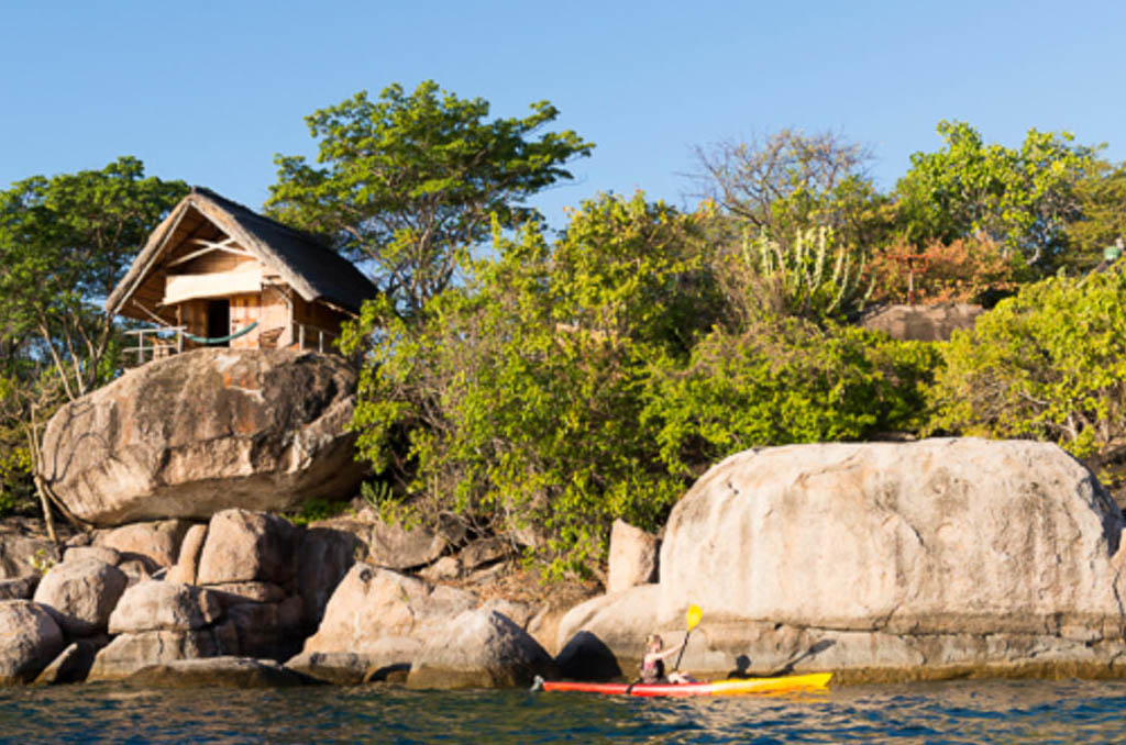 Eco friendly lodge and crystal clear water